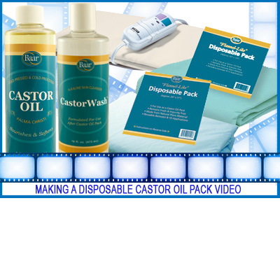 Making a disposable castor oil pack video